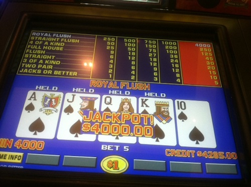 Royal Flush Video Poker at Red Rock Resort