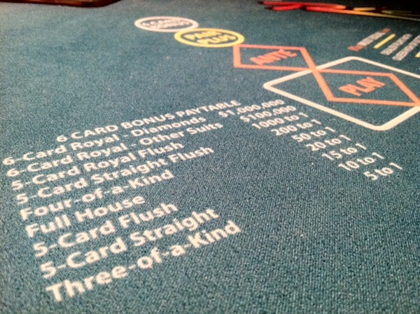 3 card poker with 6 card bonus //playroom ideas drawing