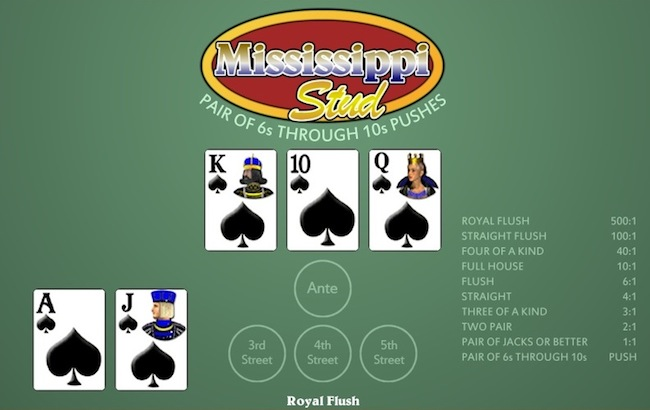 mississippi stud poker in vegas