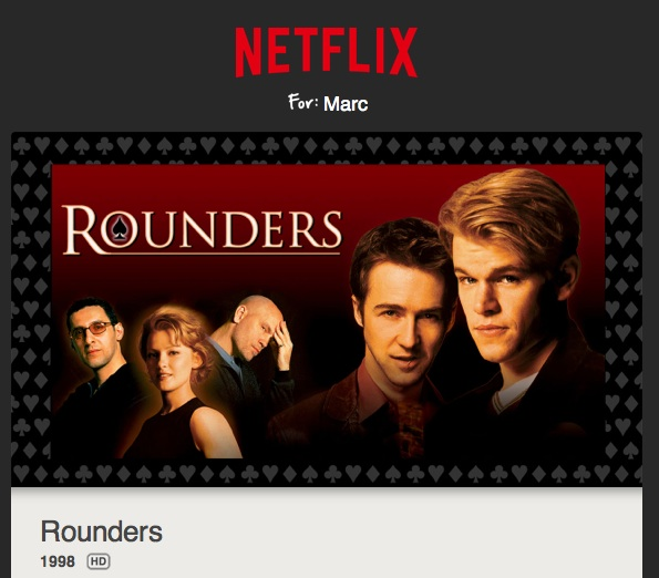Poker Movie Rounders On Netflix