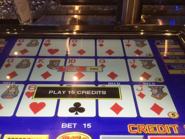 Video Poker at Umami Burger Straight Flush